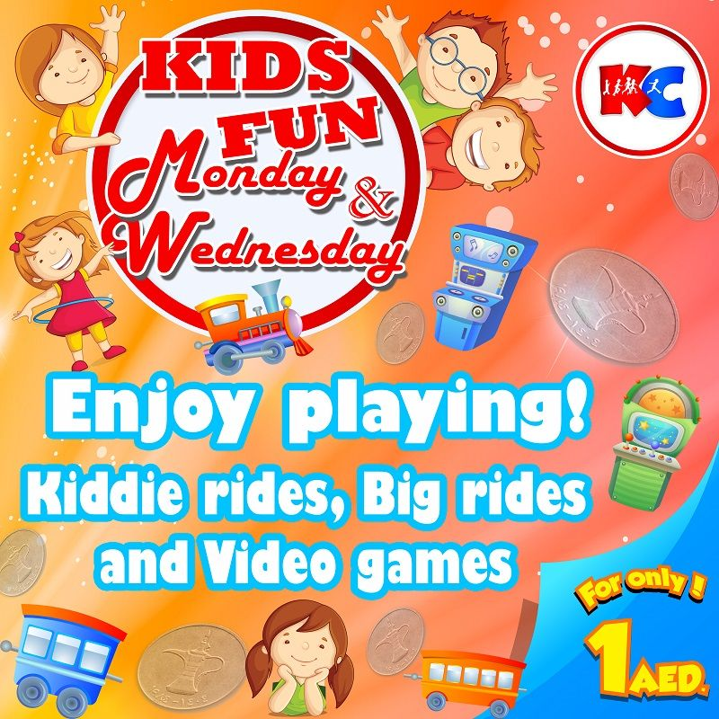 Kids Fun Monday & Wednesday!